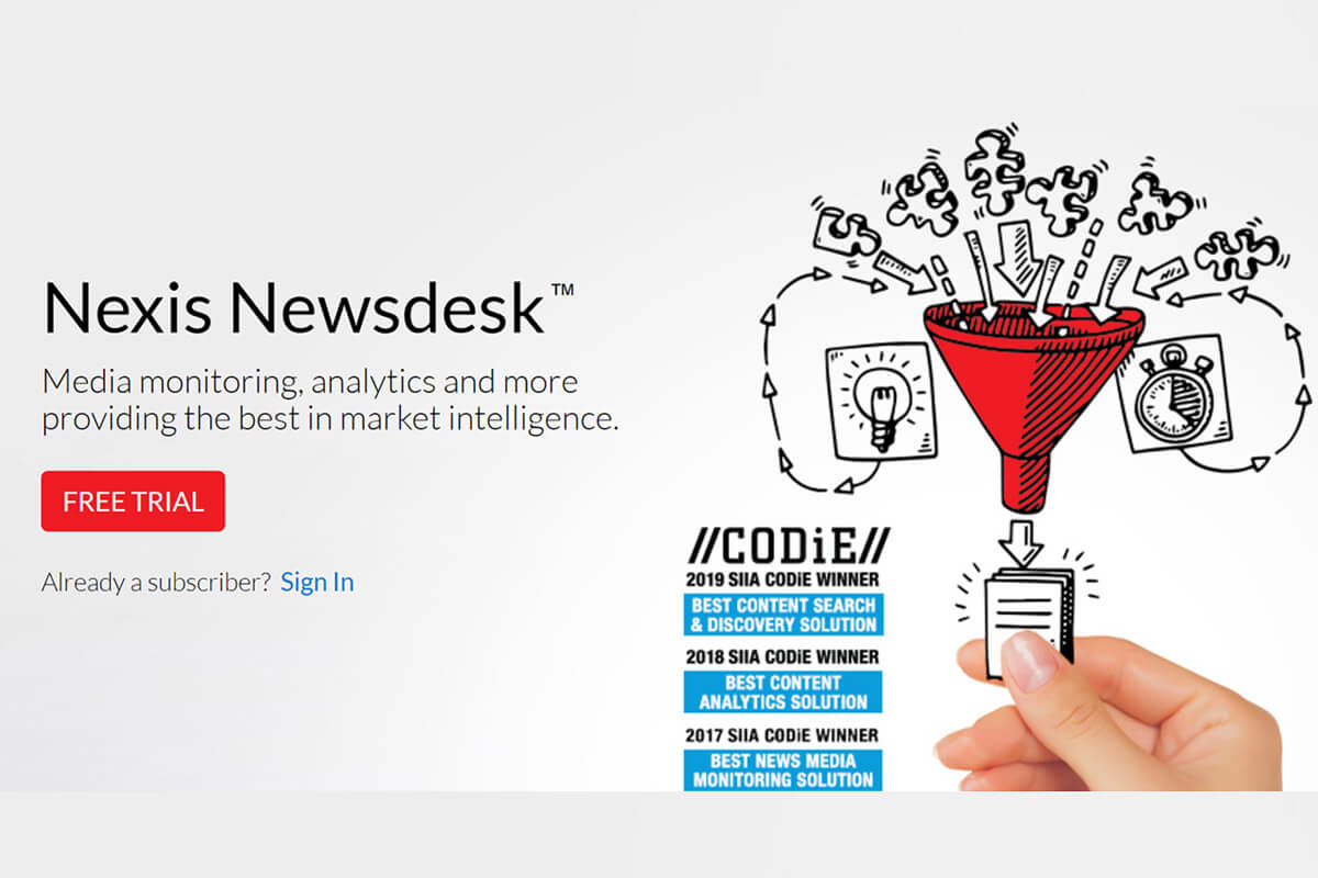 Digital Product Re-Design And Launch - Nexis Newsdesk®